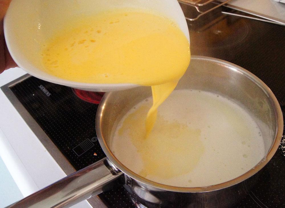 Puddingansatz zur Milch
