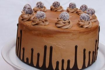 Upside Down Drip Cake Schoko
