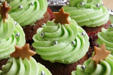 Christbaum Cupcakes