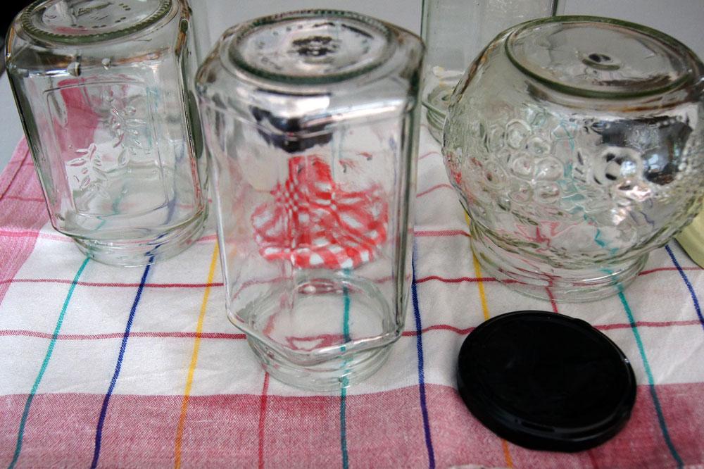 Gläser vorbereiten