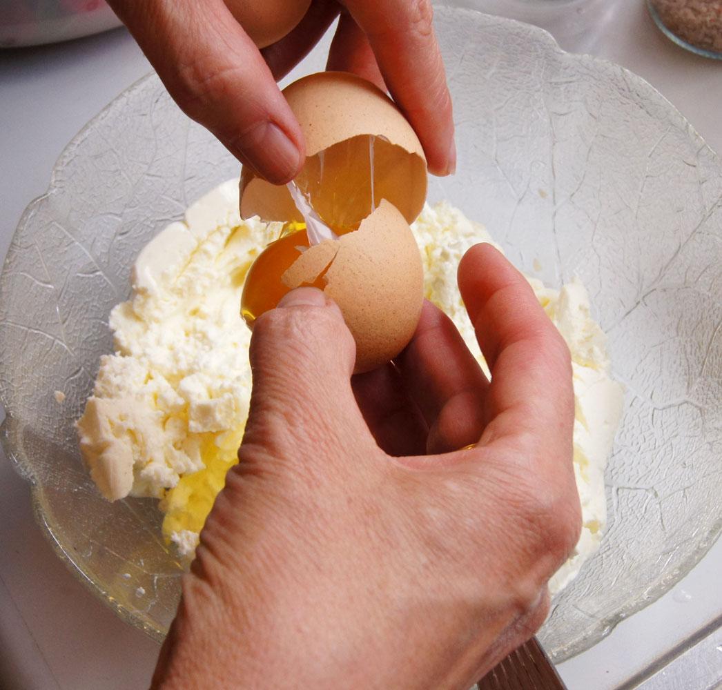 Eier dazugeben